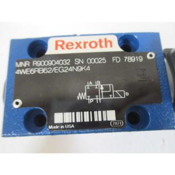 REXROTH 4WE6RB62/EG24N9K4 DIRECTIOANL CONTROL VALVE Origin NO BOX