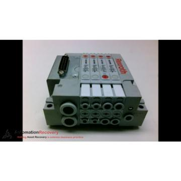 REXROTH R480203218 MANIFOLD ATTACHED R422100596 SOLENOID VALVE