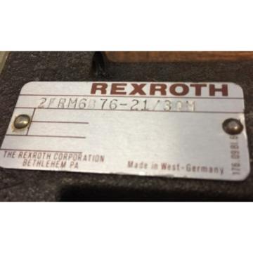 REXROTH 2FRM 6B76-21/30M FLOW CONTROL VALVE Germany