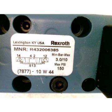 Rexroth Ceram R432006385 Double Solenoid Valves, 5/3, Closed Center