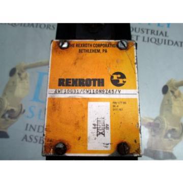 REXROTH 4WE10G31/CW110N9Z45/V SOLENOID VALVE