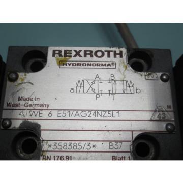 REXROTH HYDRONORMA  VALVE 4 WE6 E51/AG24NZ5L1 43 4WE6E51/AG24NZ5L143