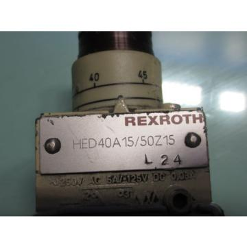 REXROTH HYDRONORMA DIRECTIONAL VALVE HED40A15/50Z15