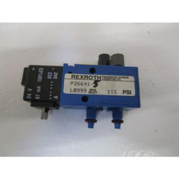 REXROTH SOLENOID VALVE P26641-5 USED