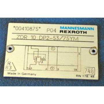Rexroth Mannesmann ZDR10DP2-53/75YM Druckreduzierventil HYDRAULIC VALVE