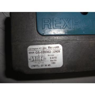 REXROTH GS-020062-00909 PNEUMATIC VALVE CERAM USED