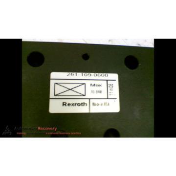 REXROTH 2611090600 VALVE BLANKING PLATE, Origin #169550