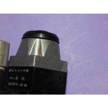 Rexroth WU35-0A 380 Solenoid Valve w/ Coil 120V 46VA 60HZ WU350A380