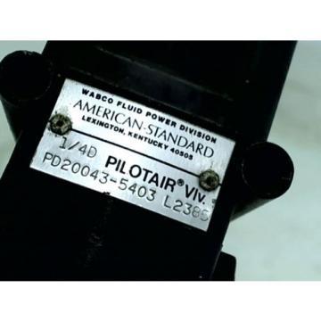 WABCO Type D Pilotair Pneumatic Directional Control Valve 4 Way 1/4 PD20043-5403