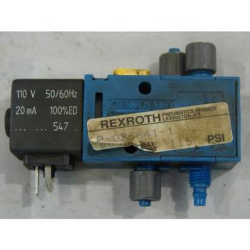 REXROTH/MECMAN 840 PNEUMATIC VALVE 110V 20MA XLNT