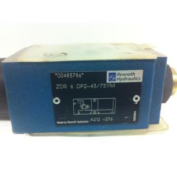 Origin / NOS REXROTH PRESSURE REGULATING VALVE ZDR-6-DP2-43/75YM
