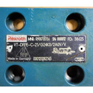 Rexroth PN:R900705156 VT-DFPE-C-21/G24K0/2A0V/V Proportional Valve