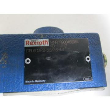 REXROTH PRESSURE REDUCING DIRECTIONAL VALVE DR6DP2-53/75YM Origin NO BOX
