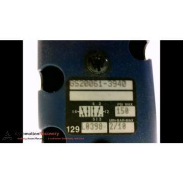 REXROTH GS20061-3940 CERAMIC PNEUMATIC VALVE, 150 PSI, 2/10BAR, SEE DESC