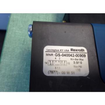 REXROTH GS-040042-00909 CERAM PNEUMATIC VALVE, 24VDC, 21W, 150-PSI BC