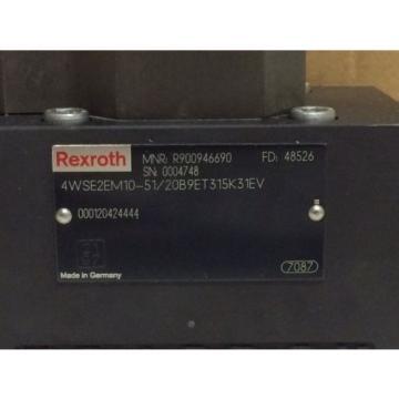 Origin IN BOX REXROTH 4-WAY SERVO VALVE R900946690 4WSE2EM10-51/20B9ET315K31EV
