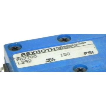 REXROTH P67700L292 VALVE