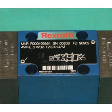 Rexroth 4WRE 6 W32-12/24K4 900499564 Proportional Valve