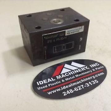 Rexroth Check Valve Z1S6P1-33/V Used #85079