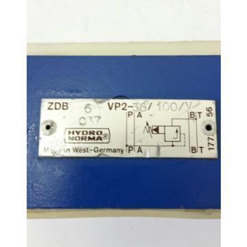 Rexroth Hydraulik Druckregelventil ZDB6VP2-36/100/V pressure valve 703275