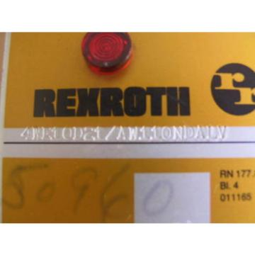 origin Rexroth Corporation 4WE10D21 Directional Control Valve 4WE10D21 / AW110NDALV