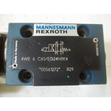 REXROTH 4WE6C61/EG24N9K4 SOLENOID VALVE USED