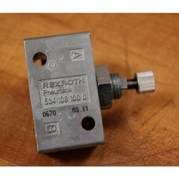 Rexroth 534 108 100 0 Throttle Control Valve - Origin