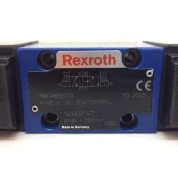 Control Valve 4WE6J62/EW110N9K4 Rexroth 4WE-6-J62/EW110N9K4 Used