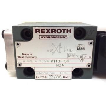 Solenoid Valve 4WE6Y51/AW110-50NZ4 Rexroth 4WE-6-Y51/AW110-50NZ4 origin
