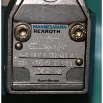 Rexroth, M-3SEW6C32/420MG24N9K4/V, Hydraulic Directional Seat Valve Origin