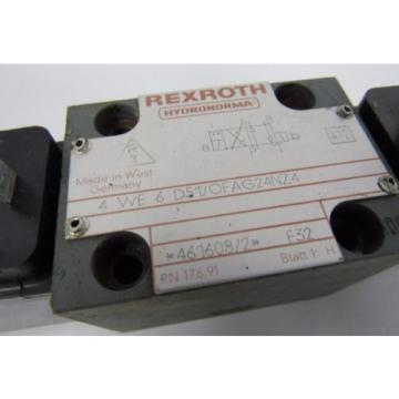 REXROTH 4 WE 6 D51/OFAG24NZ4 F32 412 24V DC 26W HYDRONORMA VALVE  USED