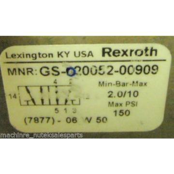 Rexroth Pneumatic Solenoid Valve GS-020052-00909 _ GS02005200909