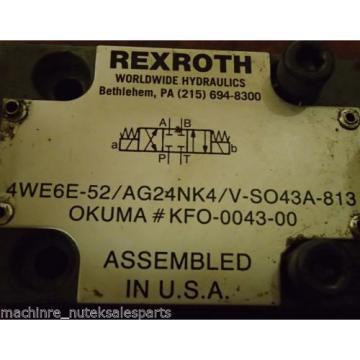 Rexroth Solenoid Valve 4WE6E-52/AG24NK4/V-SO43A-813 _ 4WE6E52AG24NK4VSO43A813