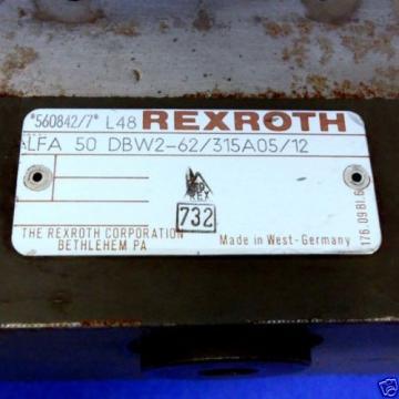 REXROTH HYDRONORMA CARTRIDGE VALVE 5-1/2#034; X 5-1/2#034; OAL LFA-50-DBW2-62/315A02/12