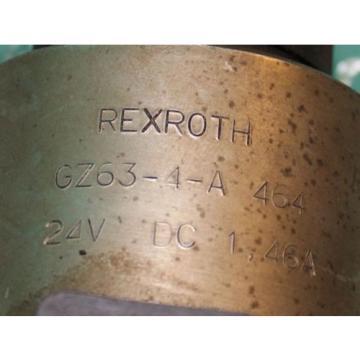 Rexroth GZ63-4-A464  Valve Hydraulic Hydronorma 146A 24VDC 4WE10Y32/CG24N9K4