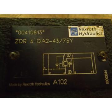 Rexroth Directional Valve ZDR 6 DA2-43/75Y _ ZDR6DA2-43/75Y _ A102 _ A1O2