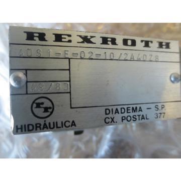 ENGESPARK EDM 400 REXROTH 4DS1-E-02-10/2A40Z8 4DS1E0210/2A40Z8 SOLENOID VALVE