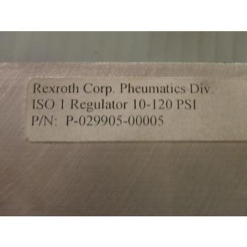 Origin Rexroth Pneumatics Cream Valve Regulator P-029905-00005 _ P02990500005