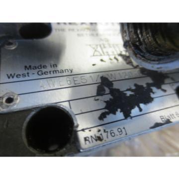 HES T-NUM 200 CNC LATHE REXROTH 4WE6E51/4W120-6 SOLENOID VALVE COIL WU35-4-A
