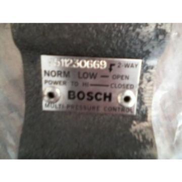 Origin BOSCH  9511230669 HI-LOW MULTI-PRESSURE 120/240VAC REGULATOR CONTROL VALVE