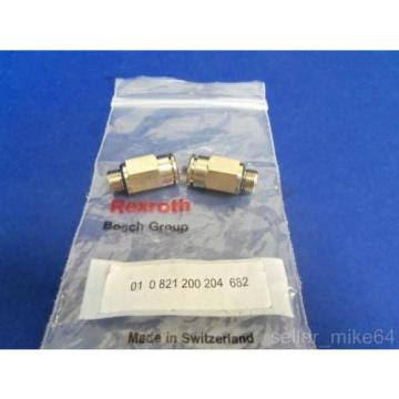 BOSCH REXROTH 01-0-821-200-204-682 FLOW CONTROL VALVES, LOT OF 2, Origin IN BAG