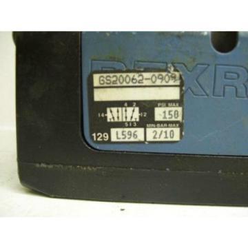 TM-2278, REXROTH GS20060-0909 PNEUMATIC CERAM VALVE