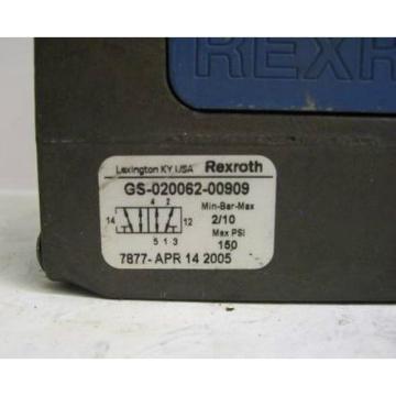 TM-2279, REXROTH GS-020062-00909 PNEUMATIC CERAM VALVE
