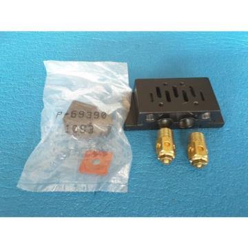 REXROTH  P 68975-1  SOLENOID VALVE MANIFOLD W/ MUFFLERS