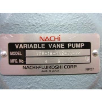 NACHI VARIABLE VANE PUMP VDR-1B-1A2-CU-22