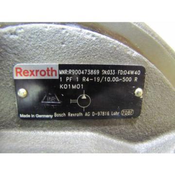 MANNESMANN Korea Dutch REXROTH 1PF2G331/026RN07MHL 1PF1R4-19/10.00-500R HYDRAULIC PUMP