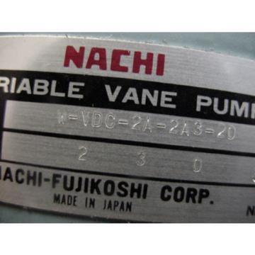 origin Nachi hydraulic variable volume vane pump W-VDC-2A-2A3-20 VDC-2A-2A3-20