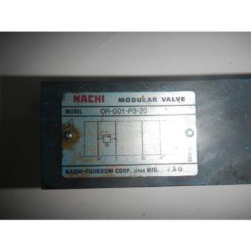 Nachi OR-G01-P3-20 D03 Hydraulic Relief Valve