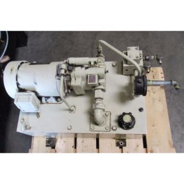 NACHI HYDRAULIC POWER UNIT S-8422 W/ PUMP PVS-OB-8N1-20 MOTOR KITAMURA MYCENTER2