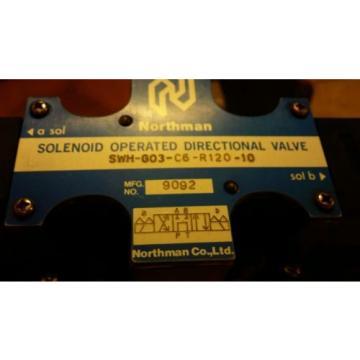 Northman SWH-G03-C6-R120-10 Hydraulic Solenoid Valve W/Nachi Modular Valve